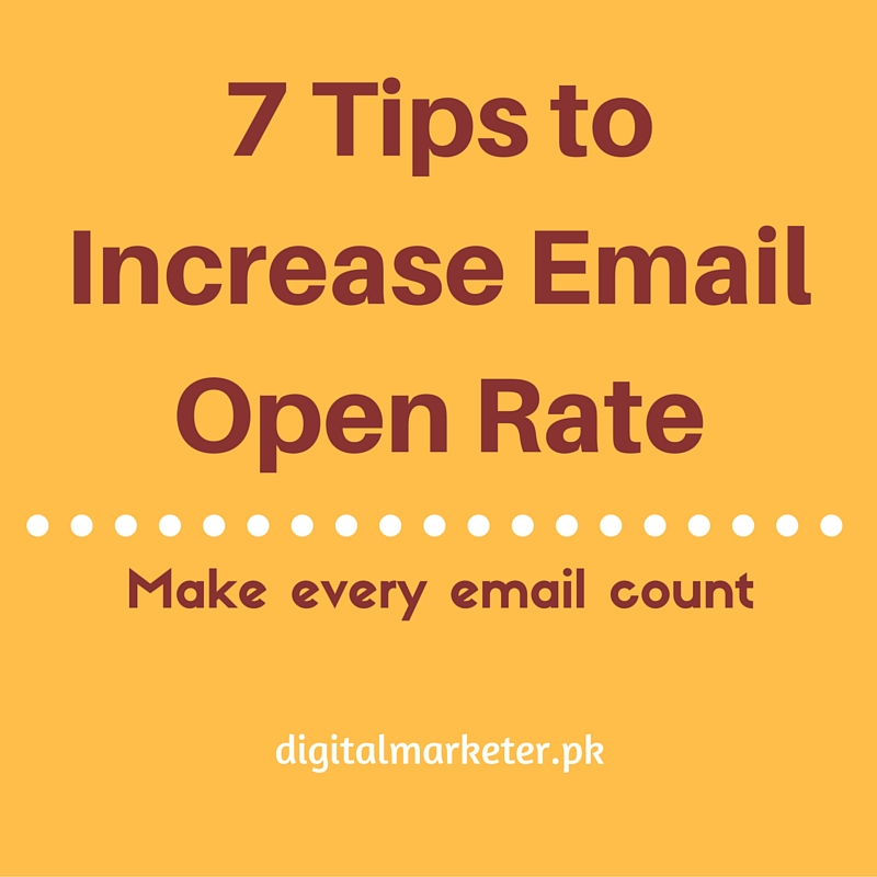 7 Tips to increase Email Open Rate