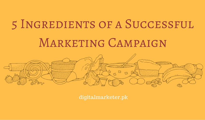 5 Ingredients of a Successful Marketing Campaign