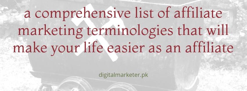 Affiliate Marketing Terminologies