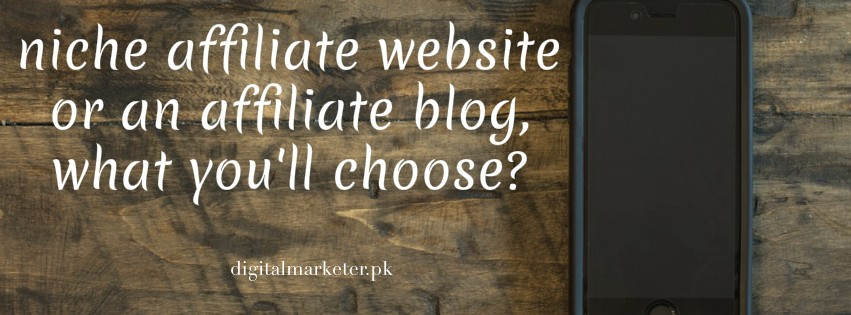 Difference between a Niche Affiliate Website and an Affiliate Blog